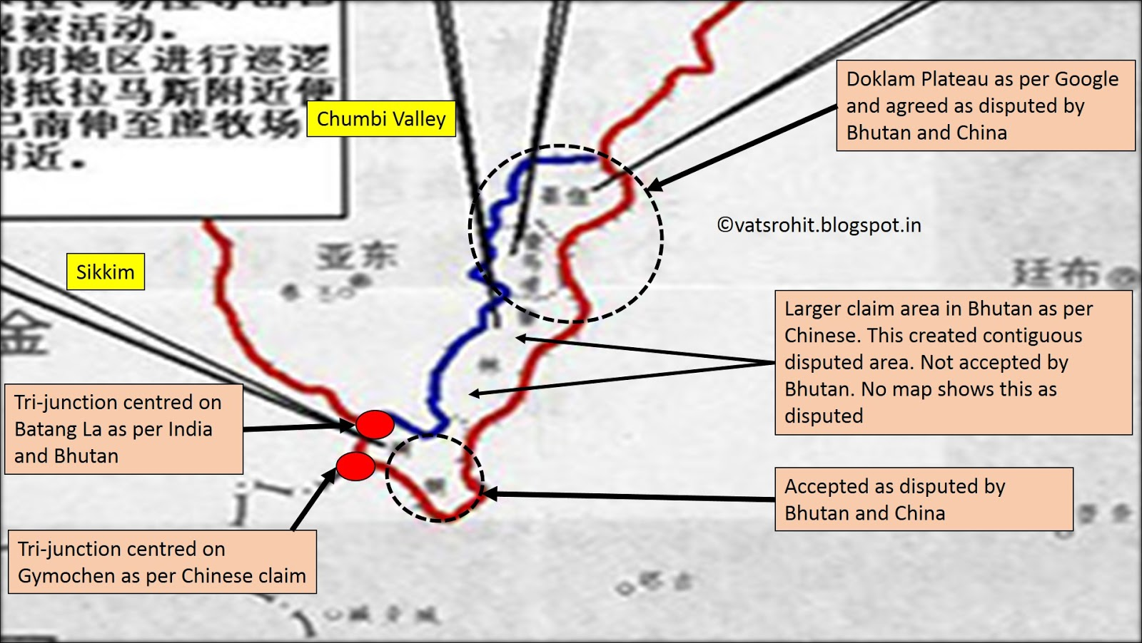 Doklam plateau india bhutan and china stand off for Chinese in the area