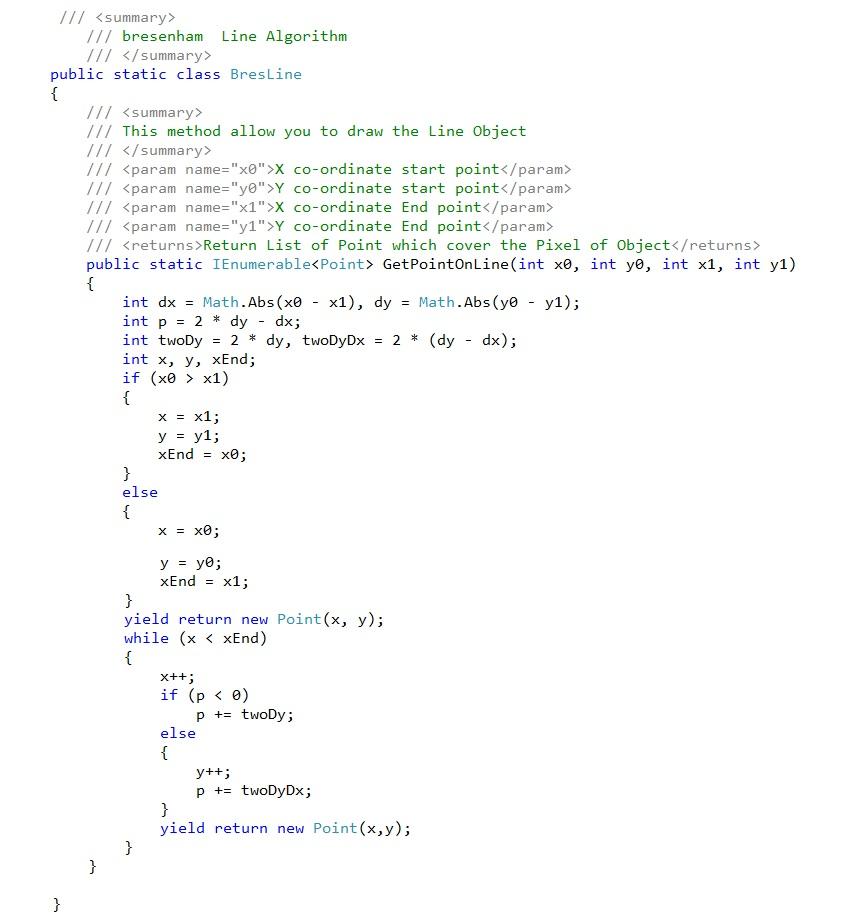 bresenham's line algorithm – Zacov