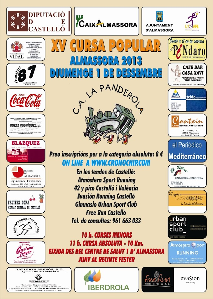 XV CURSA POPULAR D'ALMASSORA