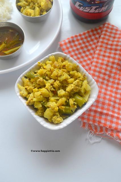 Cauliflower Egg Burji