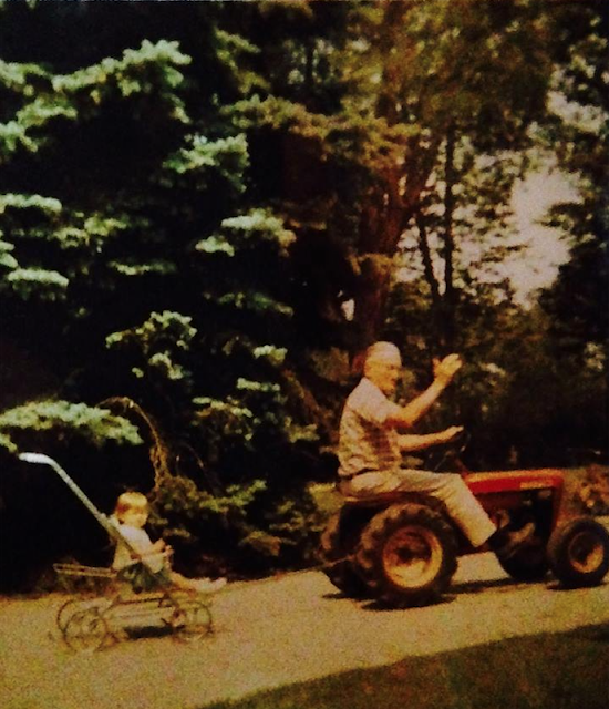 vintage color photo of Kim DeHaven Rigg and grandfather William DeHaven