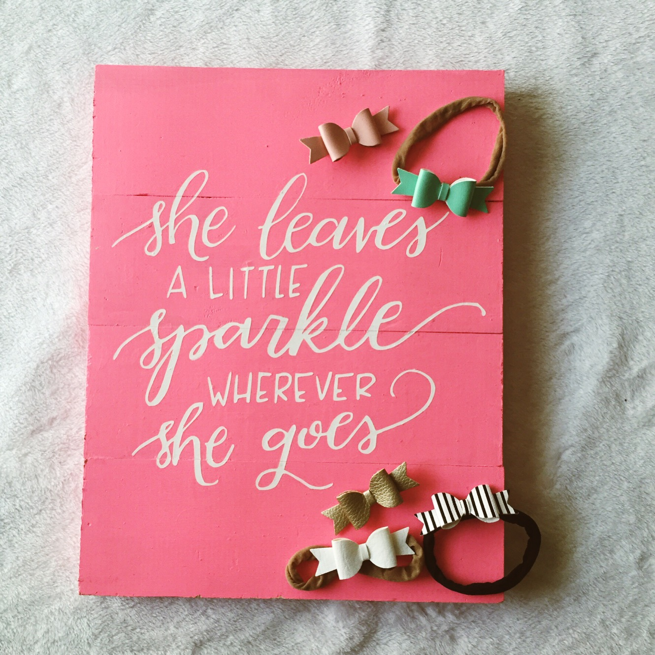 she leaves a little sparkle wherever she goes print