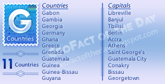 GeoFact of the Day: G Countries