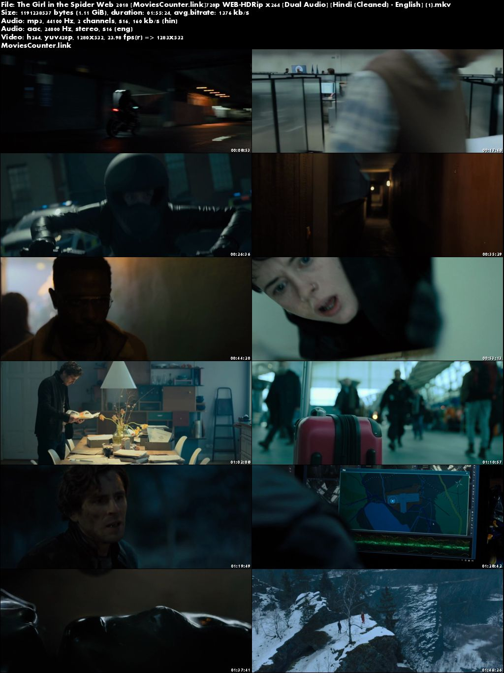 Screen Shots The Girl in the Spider's Web 2018 Dual Audio HD 720p