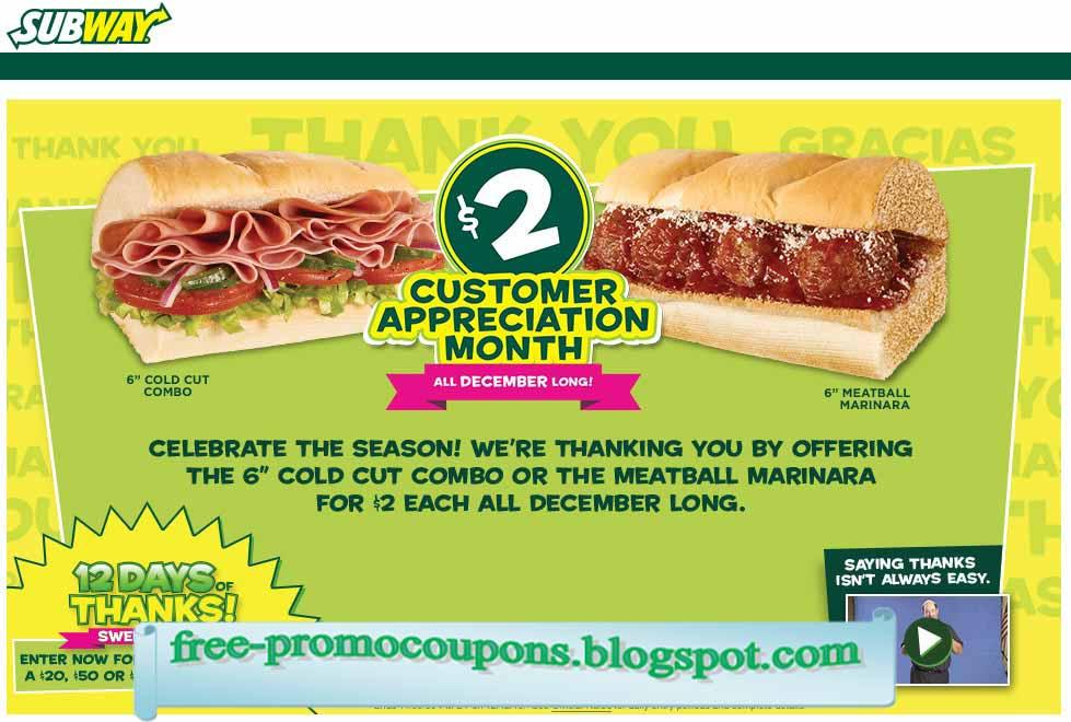 Subway coupons wien