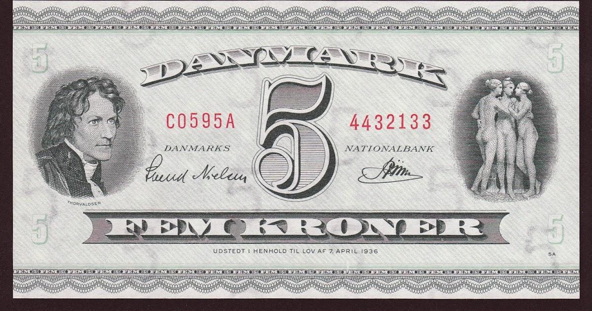 Denmark 5 Krone Banknote 1936 World Banknotes Amp Coins