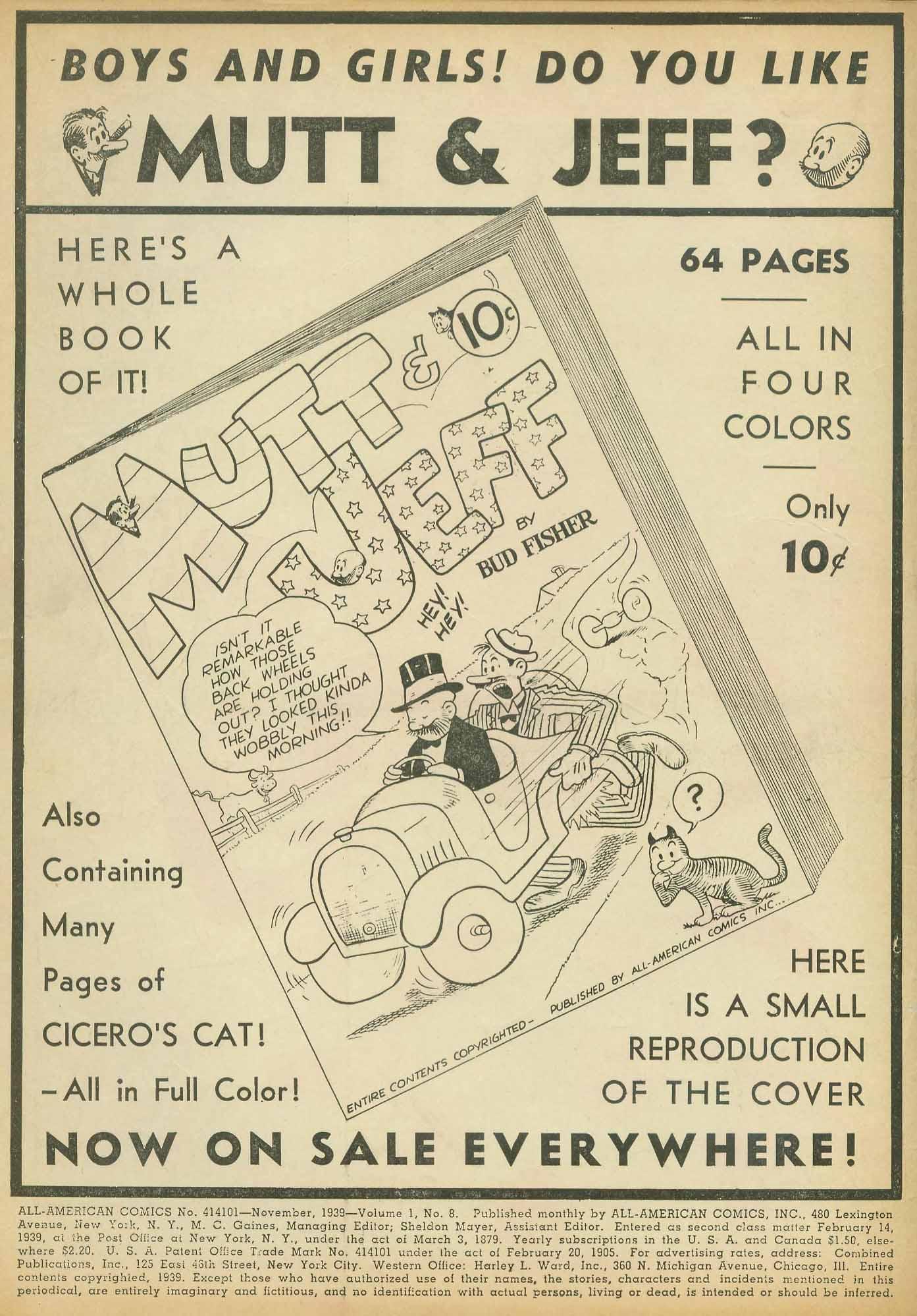 Read online All-American Comics (1939) comic -  Issue #8 - 2