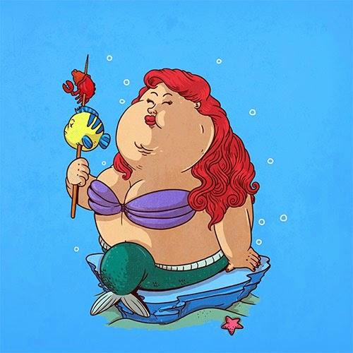Fat Super Hero Gemuk - Fat Lil Mermaid