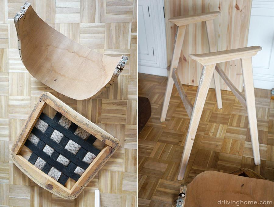 C mo tapizar una silla en piel antes y despu s blog - Materiales para tapizar ...
