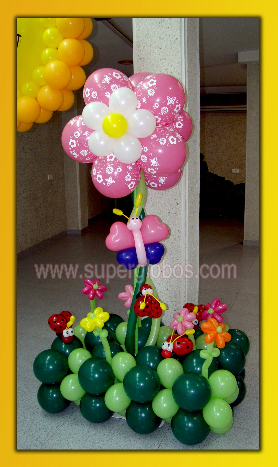 Dise os con globos para fiestas infantiles decoraci n for Decoracion simple con globos