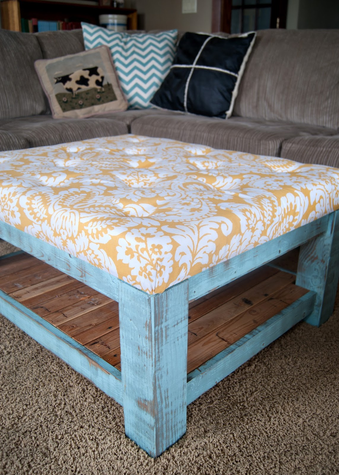 Diy ottoman for under 100 averie lane diy ottoman for - What is an ottoman ...