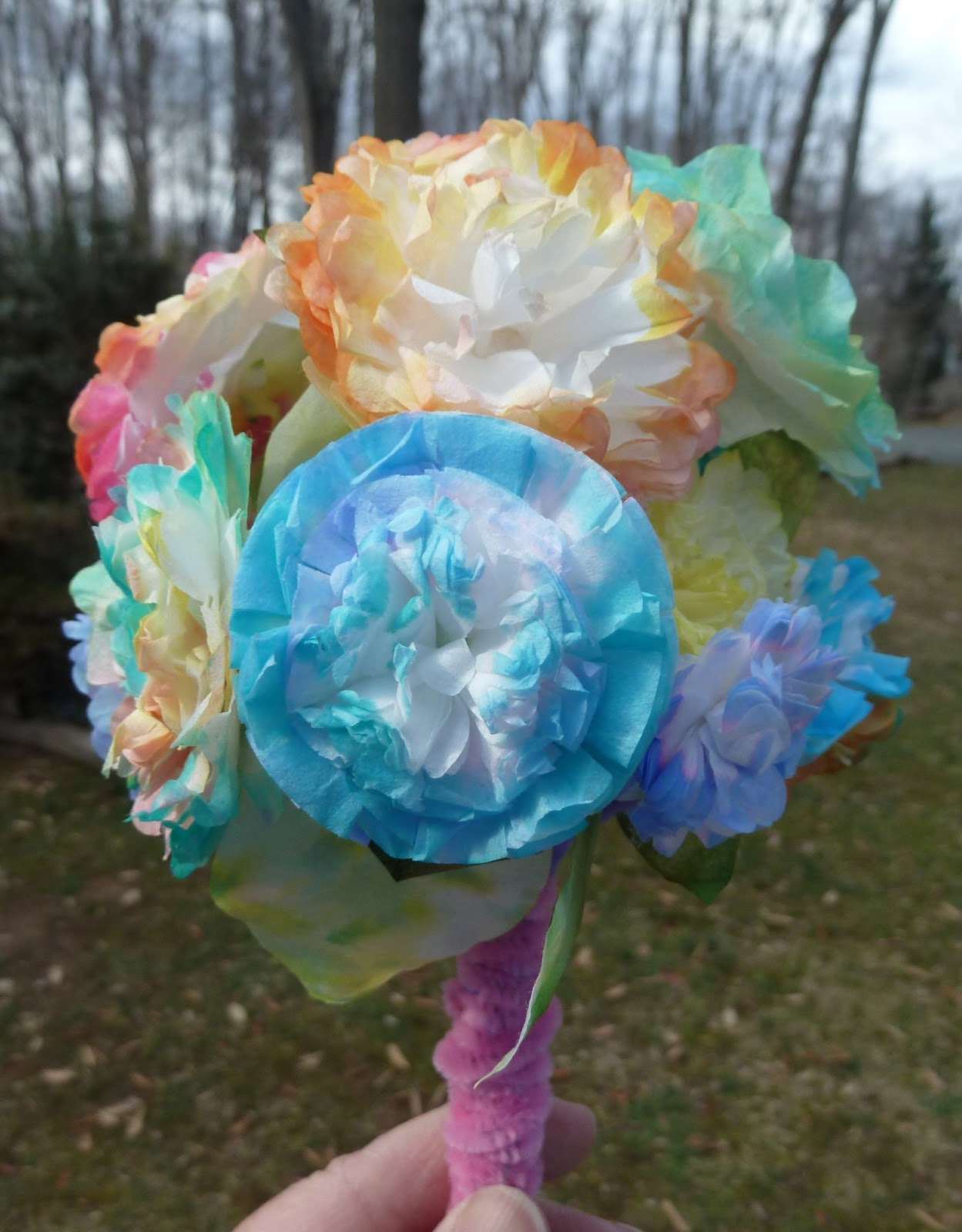 Coffee Filter Bouquet Sizzix Blog The Start Of Something You