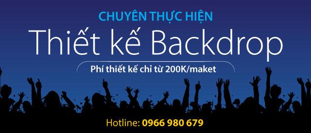 Dịch vụ thiết kế backdrop online giá rẻ