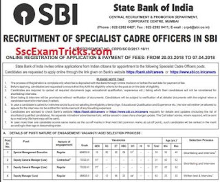 SBI SO Law Notification