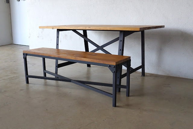 Industrial Dining Table Set: INDUSTRIAL FURNITURE II: DINING TABLE