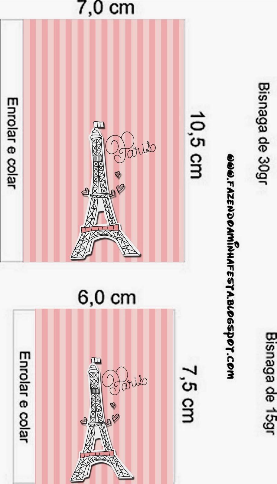 Muitas vezes 15 Años París: Etiquetas Gratis para Candy Bar. | Ideas y material  RM39