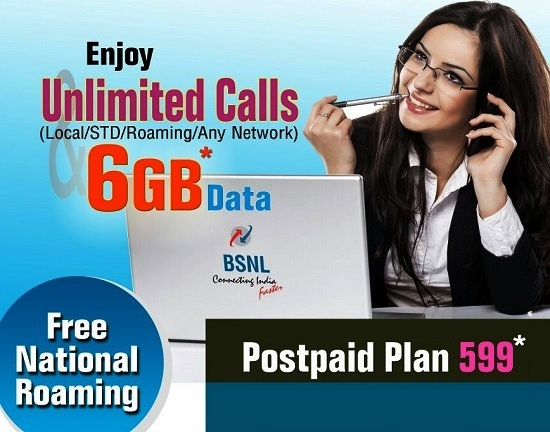 BSNL increases free data bundled with postpaid mobile plans up to 700%, with effect from 1st April 2017 on wards on PAN India basis
