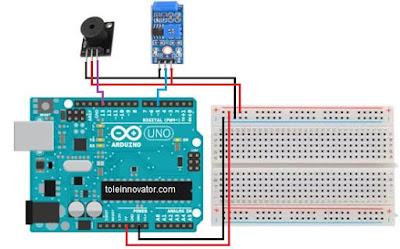 Rangkaian Alarm Gempa Arduino