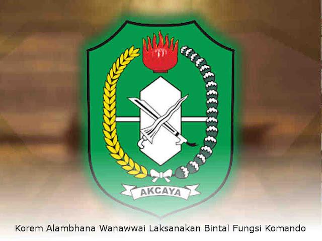 Korem Alambhana Wanawwai Laksanakan Bintal Fungsi Komando
