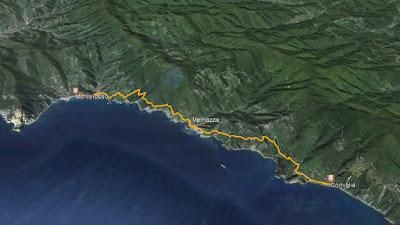 GPS Corniglia Vernazza Monterosso