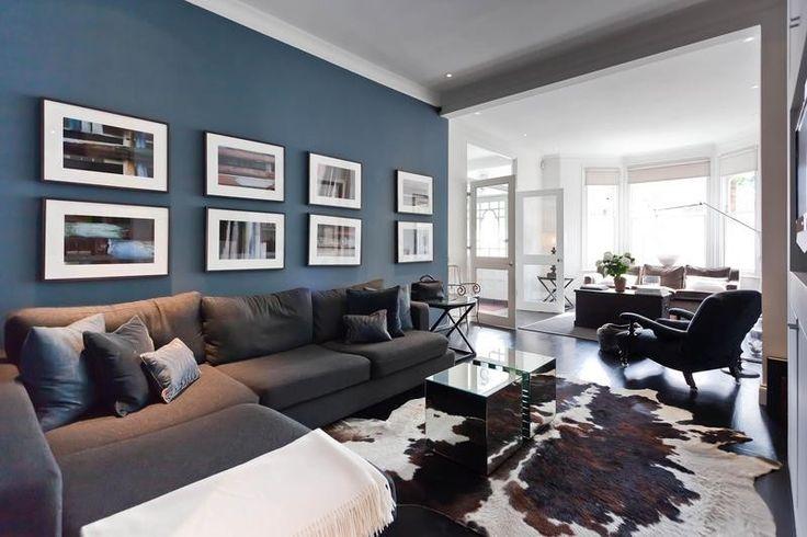 living room color schemes grey couch photos of rooms with leather furniture azul petrÓleo para decorar... - papo de design
