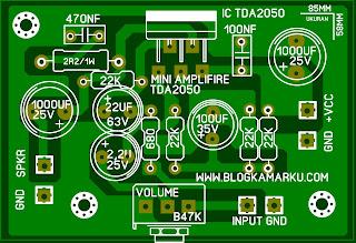Cara Membuat Power Amplifire Mini TDA 2050