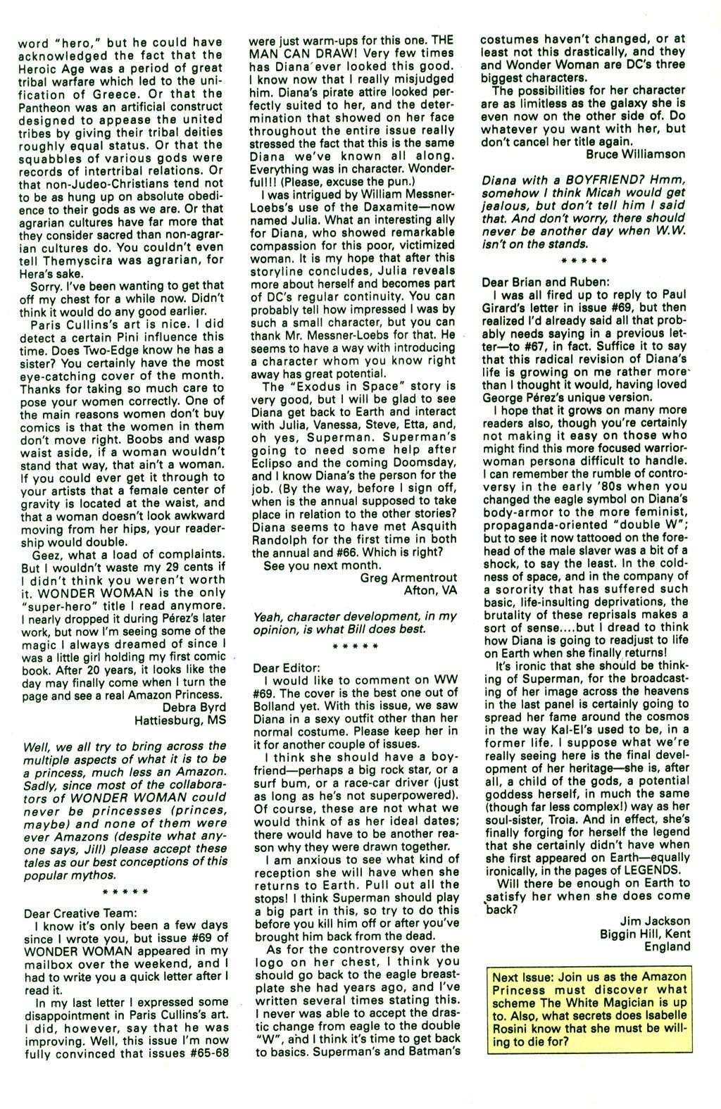 Read online Wonder Woman (1987) comic -  Issue #73 - 26