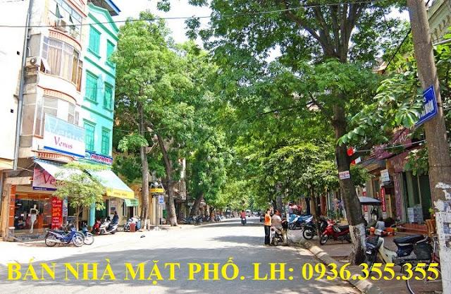 Bán nhà mặt phố Ngô Thì Nhậm, Lê Văn Hưu