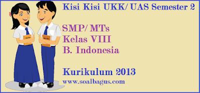 Download kisi kisi penulisan soal ukk/ uas b indonesia/ bin kls 8 semester 2/ genap tahun 2017 www.soalbagus.com