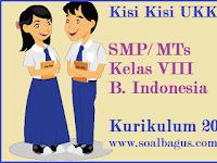 Kisi Kisi UKK B. Indonesia Kelas 8 SMP/ MTs Kurikulum 2013