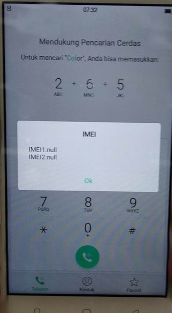 Imei Null Oppo A71 solved