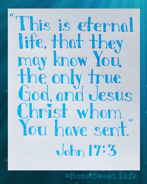 Scripture Writing, John 17:3