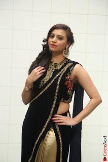 Priyanka Ramana in Beautiful Designer Black Saree At We Craft Elegance Expo Launch 042.JPG