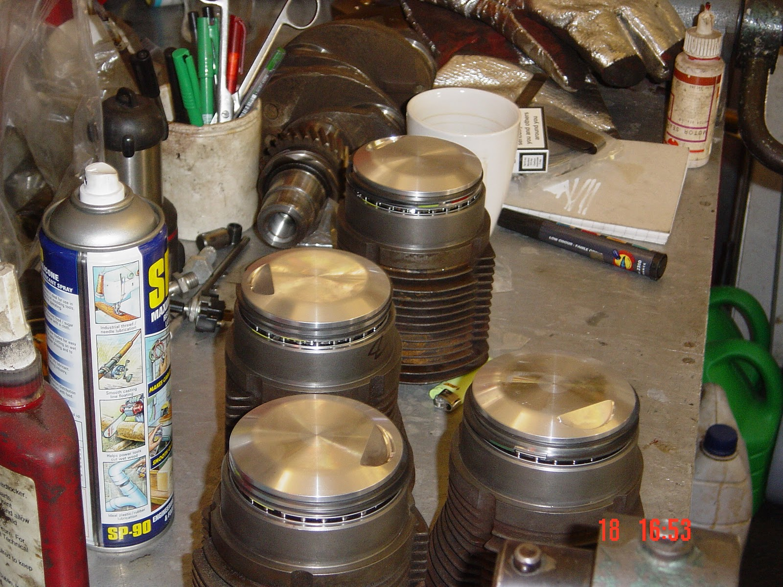 PORSCHE 356 ENGINE BUILD, REBUILD, REPAIR : 11  Cylinders, Pistons
