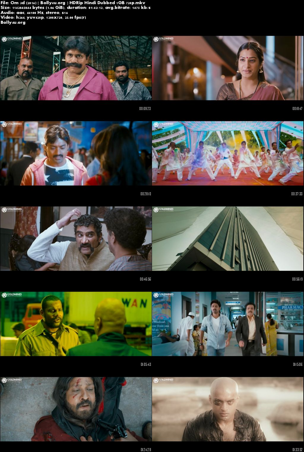 Om 3D (2016) HDRip Hindi Dubbed 1GB 720p Download
