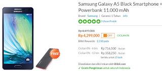 Samsung Galaxy A5 Rp 4.299.000 Bonus Powerbank 11.000 mAh