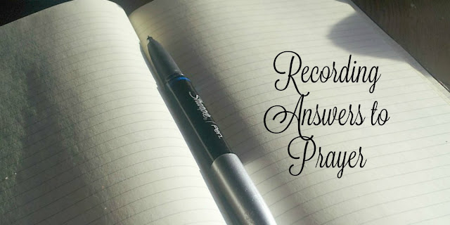 This 1-minute devotion talks about the importance of recording answers to prayer. #prayer #BibleLoveNotes #Bible