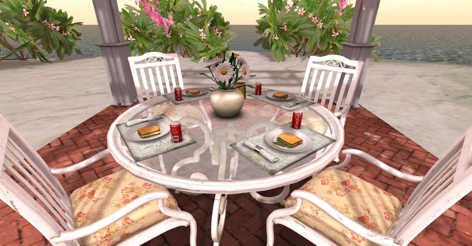 La Galleria: NEW! White Wrought Iron MESH Patio Dining Set