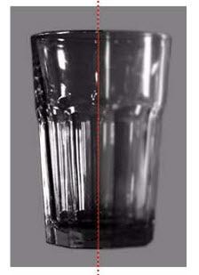 cara menciptakan efek pandangan tembus gelas