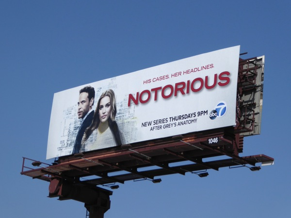 Notorious series premiere billboard