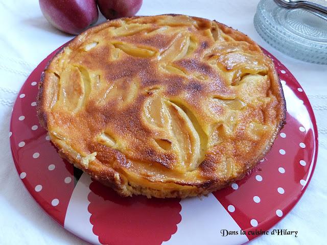 Gâteau fondant aux pommes caramélisées