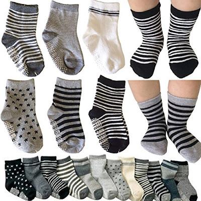 Kakalu Socks - Breathable Anti-Slip Cotton Footsocks for Babies and Toddlers