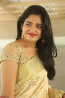 Harshitha looks stunning in Cream Sareei at silk india expo launch at imperial gardens Hyderabad ~  Exclusive Celebrities Galleries 002.JPG
