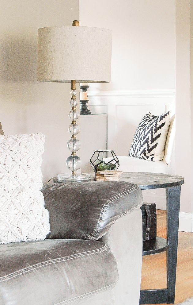 Side table sealed with poly
