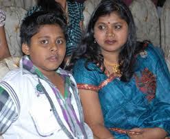 Vani with her son Aditya Harikrishna