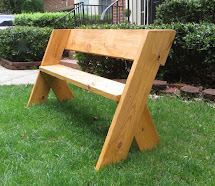Project Lady Diy Tutorial - 16 Simple Outdoor Wood Bench