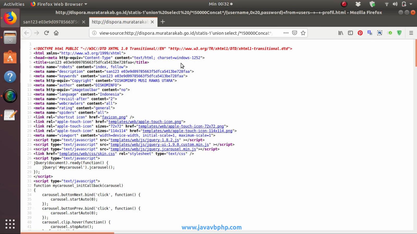 Hacking Website Tanpa Menggunakan Tools