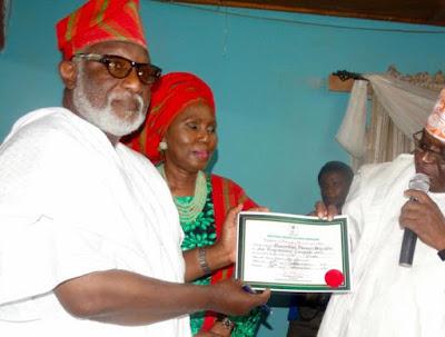 akeredolu certificate return