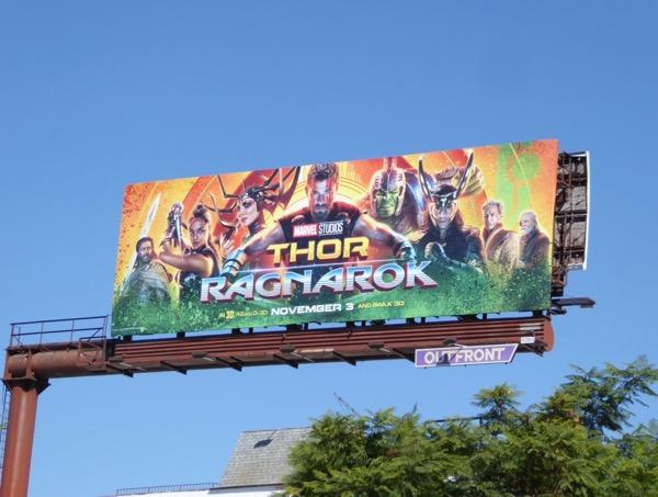 Thor Ragnarok billboard