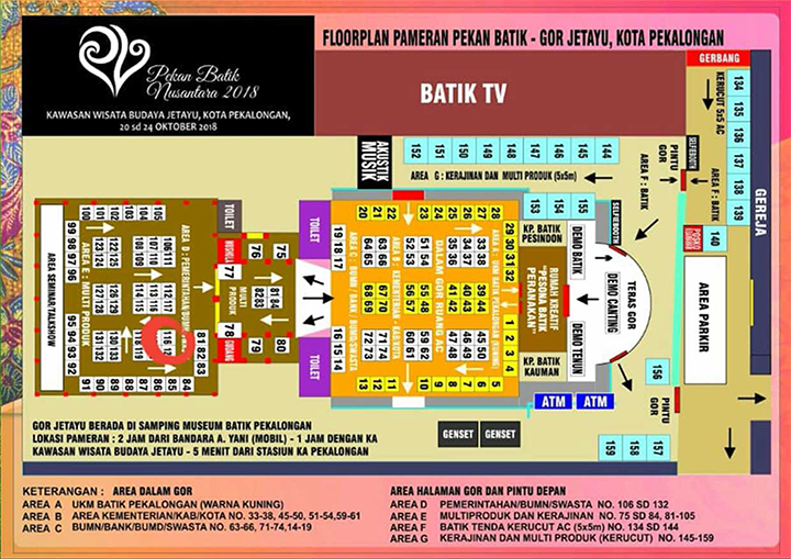 Floor Plan Pekan Batik Nusantara 2018-2